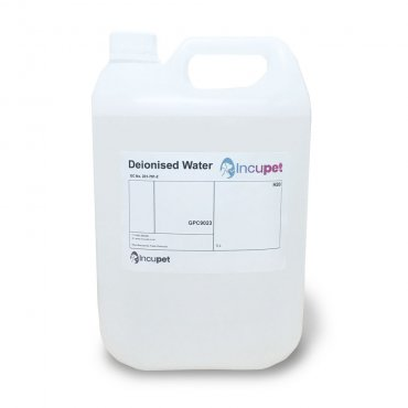 Incupet Deionised Water 5Ltr